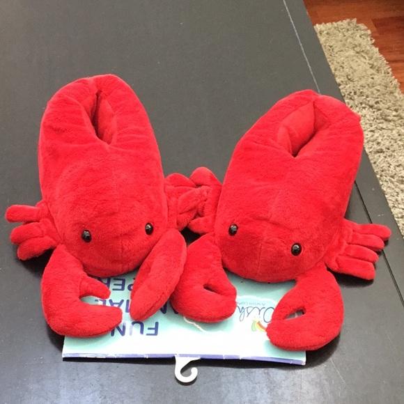 Wishpets Shoes Lobster Plush Slippers Nwt Poshmark